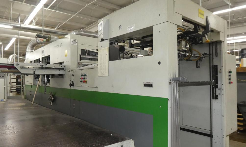 2003 Bobst SP104-ERwith Stripping and Blanking
